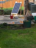 Image of PV panel in garden